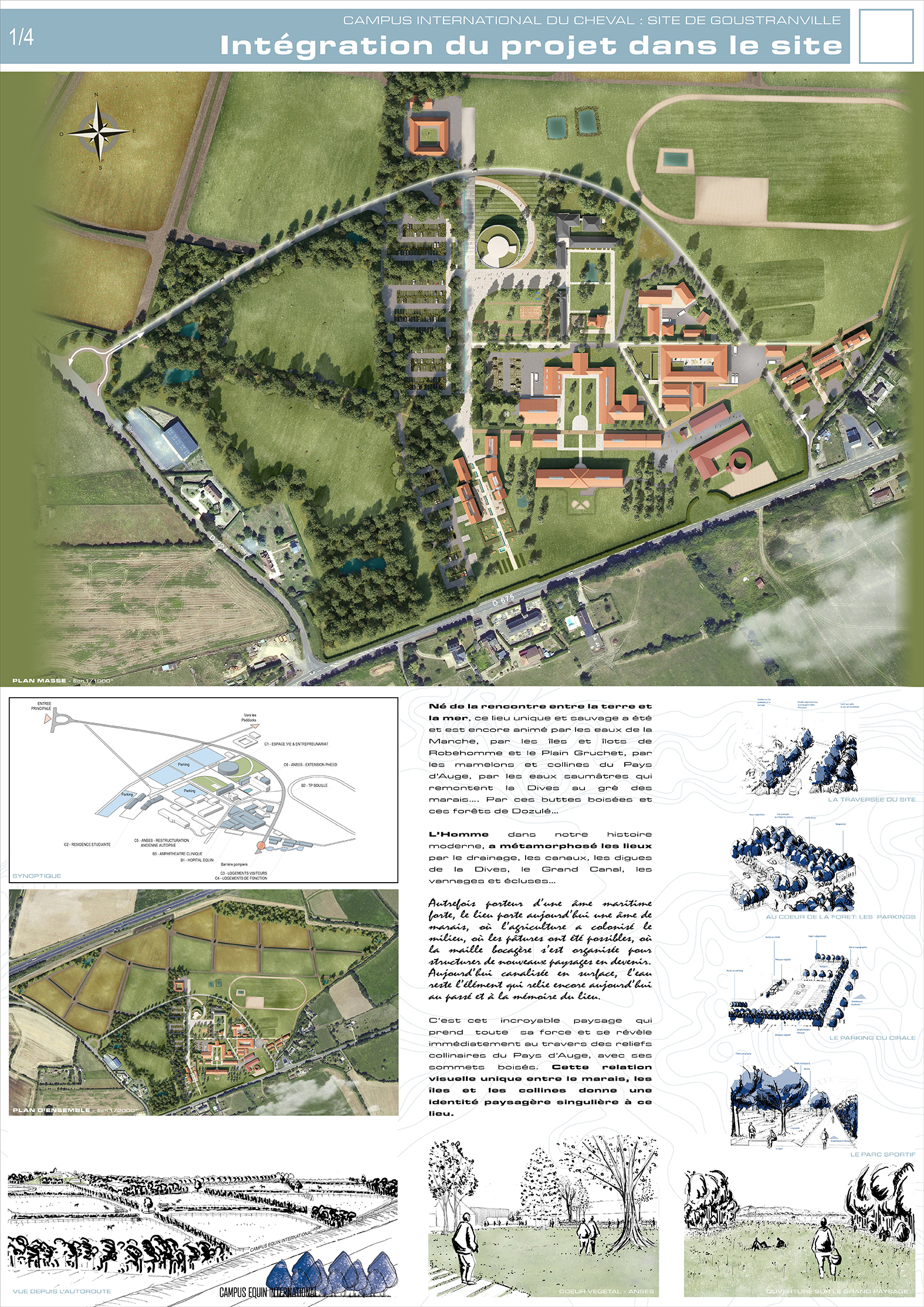 Présentation du projet du Campus International du Cheval de Goustranville
